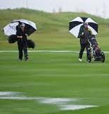 rain golfers