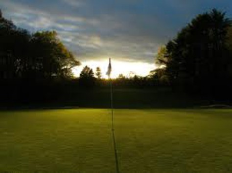 golf green twilight